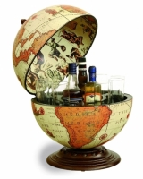 Глобус бар карта мира