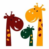Интерьерная Наклейка Cute Giraffes