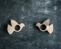 Кольца для салфеток Голубь
