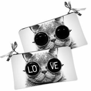 Косметичка-кошелек кот Love