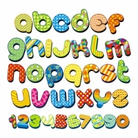 Наклейка Детская Alphabet