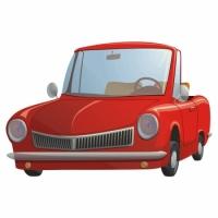 Наклейка Детская Cute Car