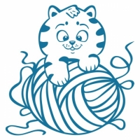 Наклейка Детская Kitten