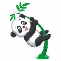 Наклейка Детская Little Panda