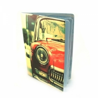 Обложка для автодокументов Красная ретро машина