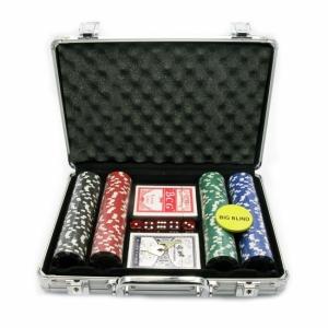 Покерный набор в Металическом кейсе 200 фишек