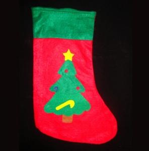 Рождественский носок с апликацией