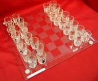Шахматы с рюмками на 25 см