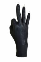 Свеча черная в виде руки ОК