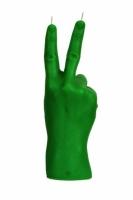 Свеча зеленая в виде руки Victory