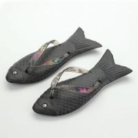 Тапки вьетнамки черная Рыбка