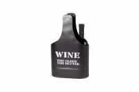 Винная металлическая корзина на 2 бутылки WINE 35см