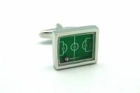 Фото Запонки Футбольное поле зеленое