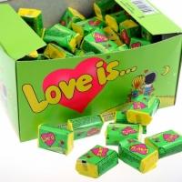 Жвачка Love is ... Яблоко-Лимон 25 шт