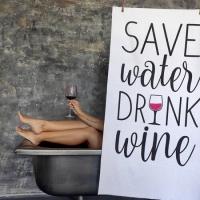 Полотенце Save water and drink wine 150х70 см