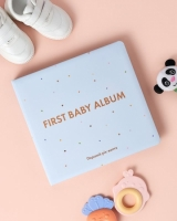 Детский фотоальбом для мальчика новорожденных (голубой)