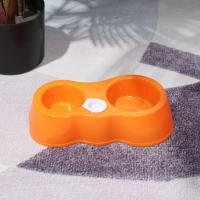 Кормушка поилка автоматическая для собак и для котов (оранжевый)
