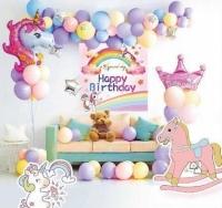 Набор воздушных шаров для фотозоны на день рождения Единорог