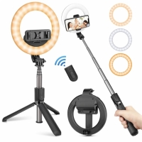 Кольцевая лампа Selfie Stick с держателем для телефона на триноге