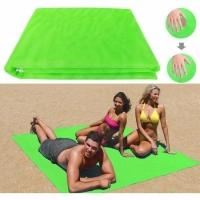 Пляжный коврик анти-песок 200х200 см (салатовый)