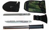 Фото5 Набор походный 5 в 1. Лопата, открывашка,пила, топор, нож