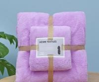 Набор полотенец для ванной комнаты из 2 шт Supersoft (сиреневый)