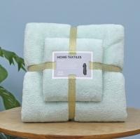 Набор полотенец для ванной комнаты из 2 шт Supersoft (салатовый)