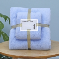 Набор полотенец для ванной комнаты из 2 шт Supersoft (голубой)
