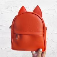 Сумка рюкзак трансформер Ушки как у котика (оранжевый)