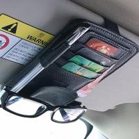 Органайзер в авто для кредитных карт, денег (черный)