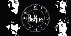 Часы на холсте The Beatles 25х50