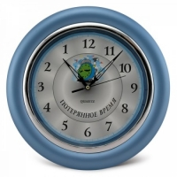Часы идут в обратную сторону Потерянное время (синий)
