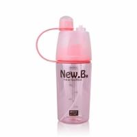 Бутылка для воды со спреем 400 мл Pink