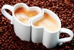 Набор чашек для влюбленных сердца эспрессо