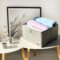Органайзер для вещей, полотенец и постельного белья 30х30х20 см (Серый)