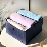 Органайзер для вещей, полотенец и постельного белья 30х30х20 см (Синий)
