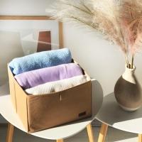 Органайзер для вещей, полотенец и постельного белья 30х30х20 см (Бежевый)