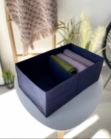 Органайзер для вещей, полотенец и постельного белья 40х25х16 см (Синий)