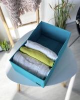 Органайзер для вещей, полотенец и постельного белья 40х25х16 см (Лазурь)