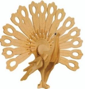 Сборная деревянная модель Павлин(3D пазл)