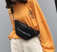 Женская сумка на пояс All you need (Черный)