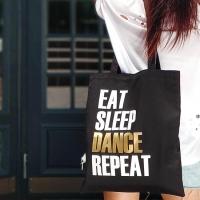 Эко сумка Eat Sleep Dance Repeat (Черная)