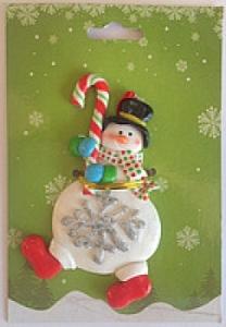 Елочная игрушка Снеговик-1