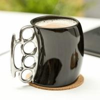 Фото Чашка кастет Black с серебристой ручкой