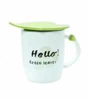 Чашка керамическая Листик Helo! Green Leaves