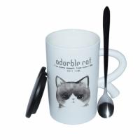 Чашка Кот герой Серый