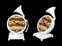 Часы Граммофон Антиквариат White