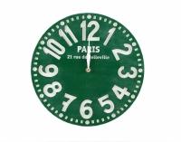 Часы Париж (изумрудно-зелёный)
