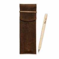 Фото Чехол для ручек Орех + эко ручка и карандаш