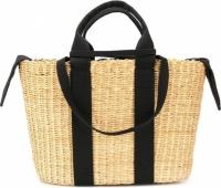 Фото Черная плетенная сумка George в виде корзины